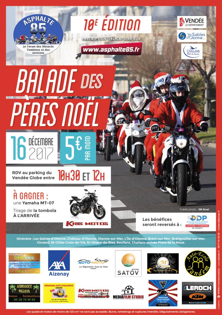 balade moto noel paris 2018 La balade des Pères Noël 2017 | Asphalte 85 balade moto noel paris 2018